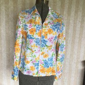 Jones New York Floral Print Jacket
